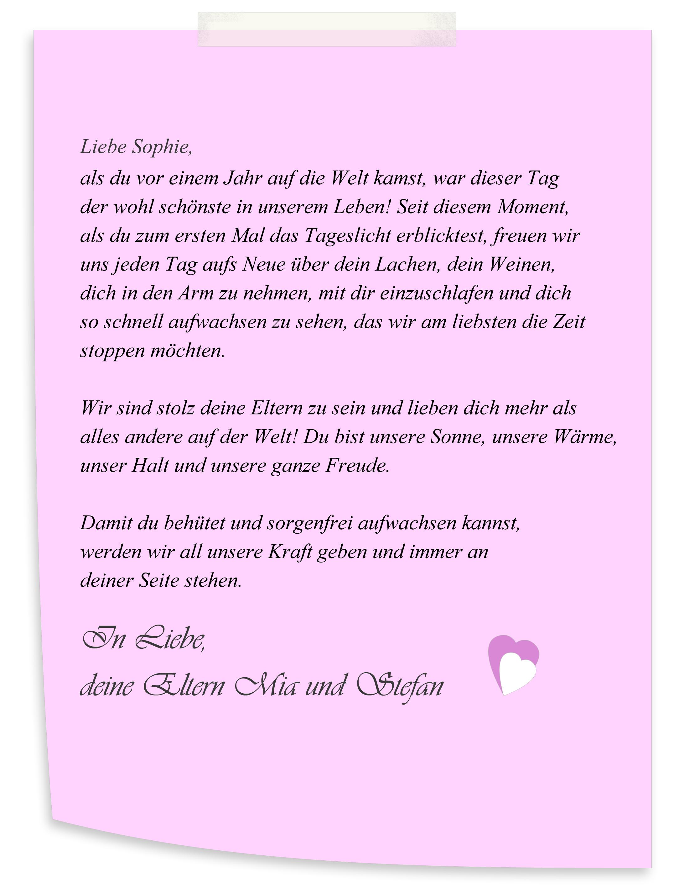 An freundin liebesbrief Kurzer Brief