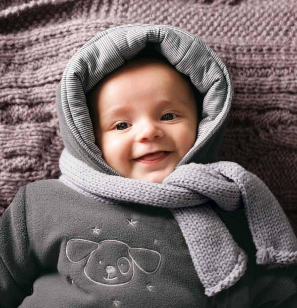 Hautpflege für Babys im Winter