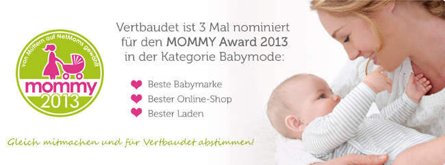 Mutter mit Baby und Vertbaudets Nominierungen beim MOMMY Award