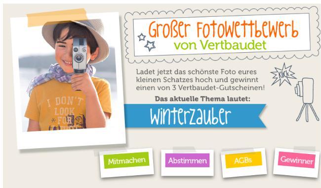 Vertbaudet Fotowettbewerb - Infos zum Mionatsthema Dezember