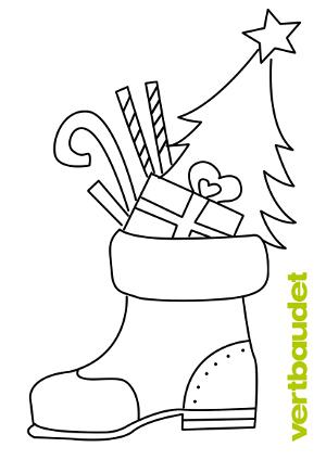 Gefüllter Stiefel zum Nikolaus