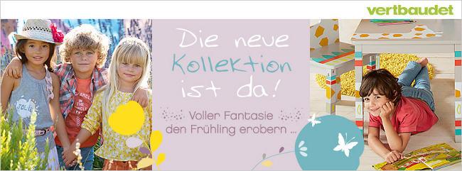 Banner mit neuer Kindern in Frühlingsmode und Kinderzimmer-Deko