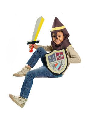 Junge mit Ritterhaube, Schwert und Schild