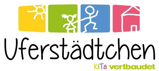 Buntes Logo der Kita Uferstädtchen in Fürth