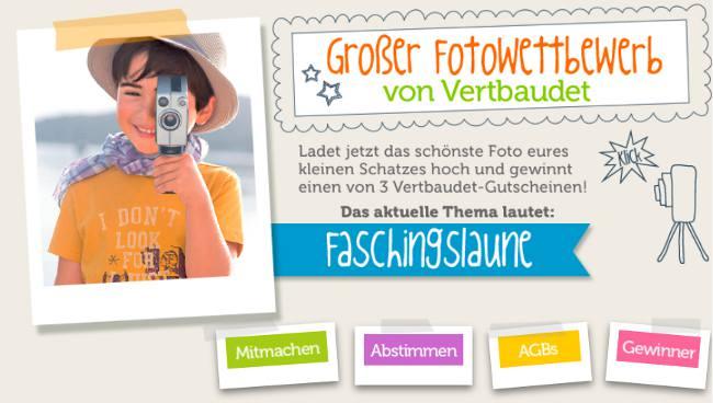 vertbaudet Fotowettbewerb im März zum Thema Faschingslaune