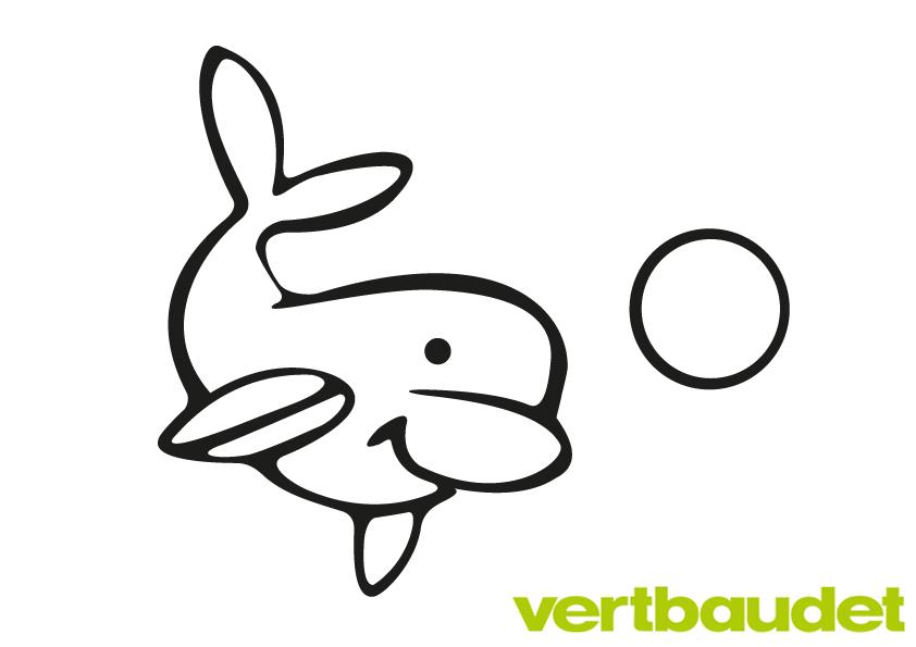 Netter Delfin zum Ausmalen › vertbaudet Blog - Ein Familien Blog für ...