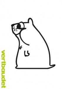 Gezeichneter Eisbär als Malvorlage