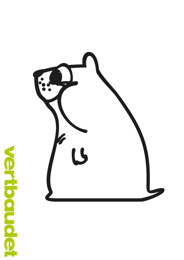 witzige hamstermalvorlage zum herunterladen › vertbaudet