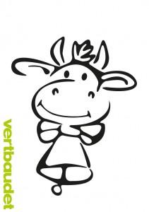 Witzige Kuh zum Ausmalen