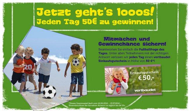 Fußball-Gewinnspiel mit Jungen in Trikots, die Fußball spielen