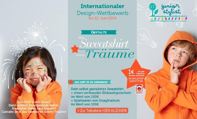 Deisgn-Wettbewerb für Kinder zum Sweatshirt-Gestalten