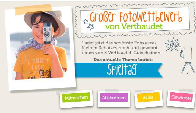 vertbaudet Fotowettbewerb im August zum Thema Spieltag