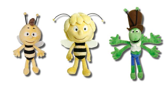 3 verschiedene Biene Maja Plüschfiguren
