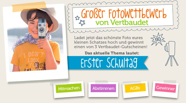 Erster Schultag – neuer Fotowettbewerb im Oktober