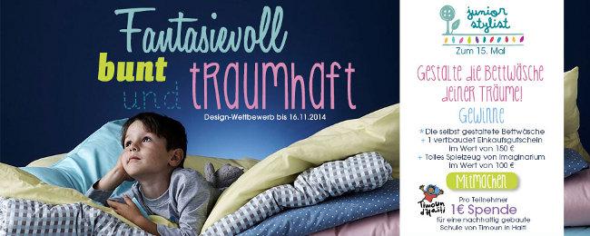 Junior Stylist Wettbewerb: Bis zum 16.11.2014 Kinderbettwäsche gestalten und gewinnen