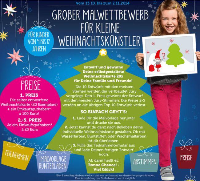 Tolles Weihnachtskarten-Gewinnspiel bis 02.11.2014