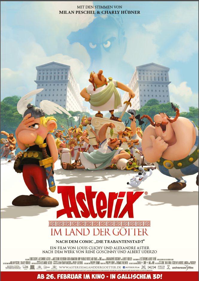 """Filmplakat mit Asterix und Obelix zu """"Asterix im Land der Götter"""""""