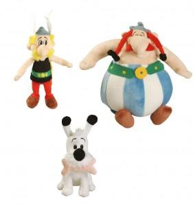 Plüschfiguren von Asterix, Obelix und Idefix