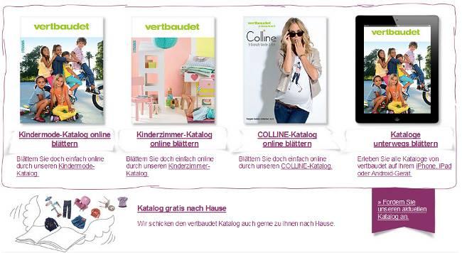 Die aktuellen Mode- und Kinderzimmer-Kataloge von vertbaudet