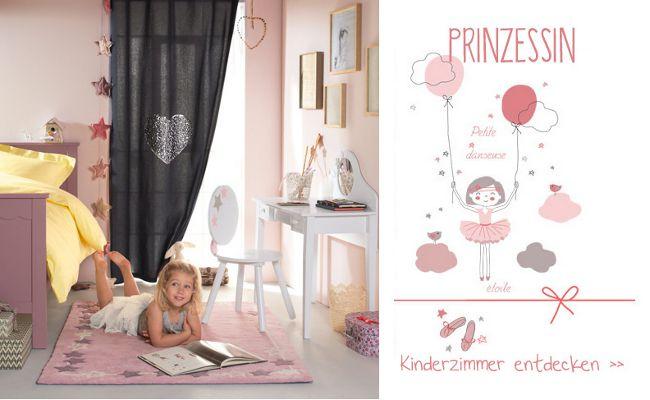 Prinzessinnen-Zimmer mit jungem Mädchen
