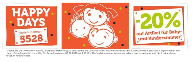 20% auf Kinderzimmer bei den vertbaudet Happy Days