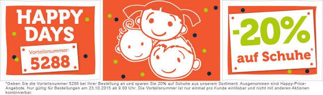 vertbaudet Happy-Days-Banner 20% auf Schuhe