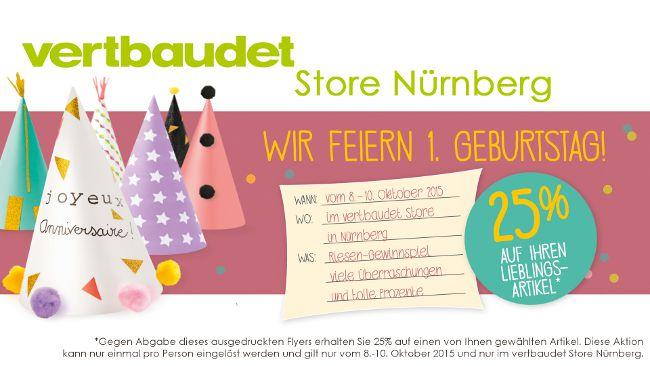 Unser Store in Nürnberg feiert 1. Geburtstag