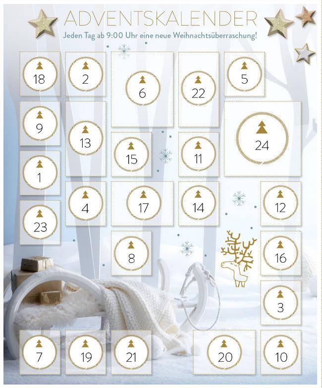Adventskalender mit Schlitten-Foto von vertbaudet