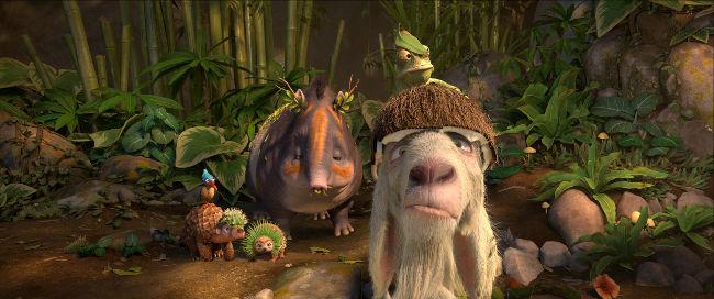 lustiges Tier-Bild aus dem Animationsfilm Robinson Crusoe