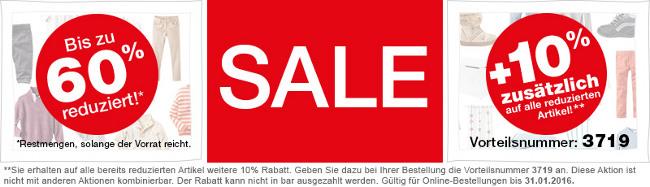 Sale-Banner: bis zu 60% + nochmal 10% sparen