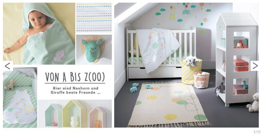 Farbenfrohes Babyzimmer mit lustigen Tier-Motiven