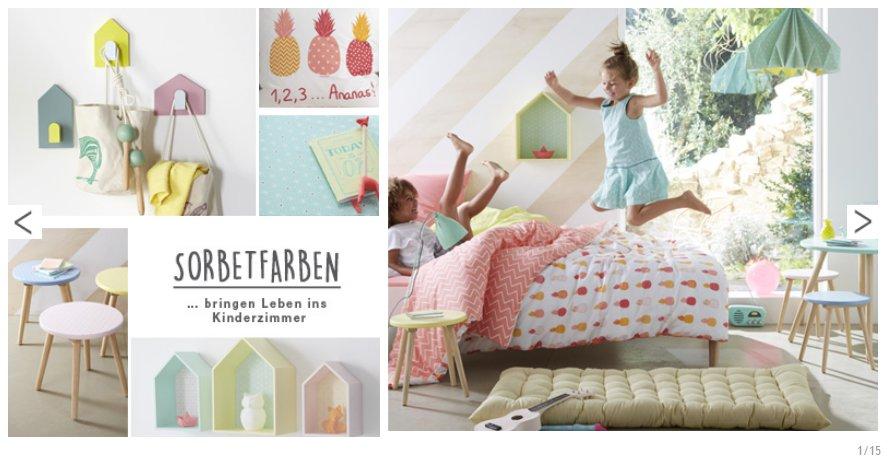 komplette Mädchenzimmer mit Möbeln, Bettwäsche und Deko