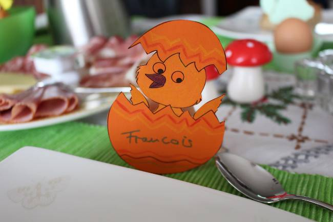 Küken-Eierhalter für Ostern