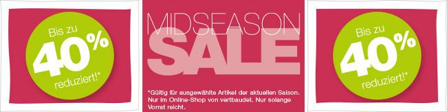 roter Midseason-Sale Banner: bis 40% reduziert