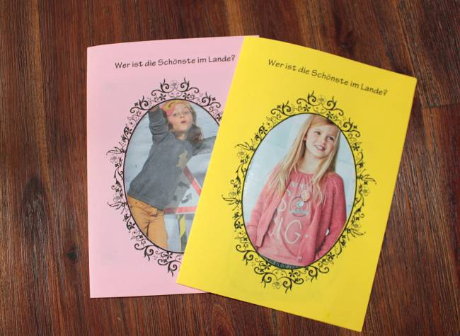 2 fertige Einladungskarten zur Beautyparty