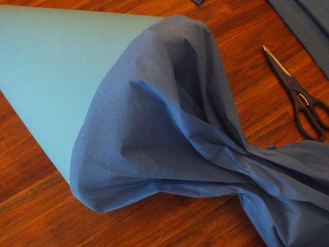 die Schultüte ohne die Deko-Elemente