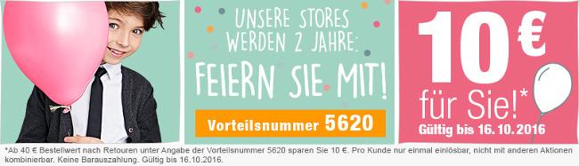 Banner: 10 Euro-Gutschein zum 2. Store-Geburtstag von vertbaudet