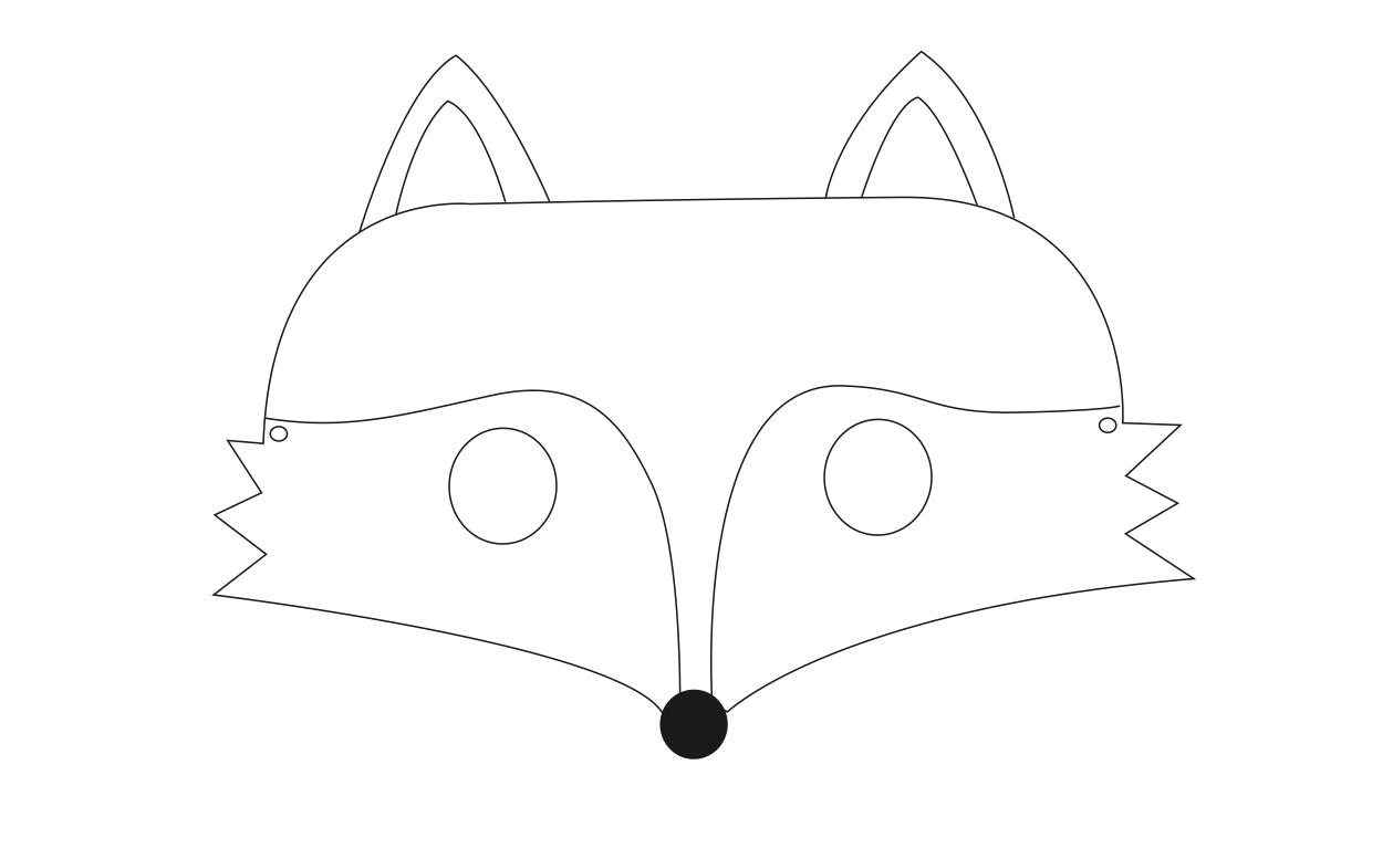 fuchsmaske zum ausdrucken und basteln vertbaudet blog. Black Bedroom Furniture Sets. Home Design Ideas