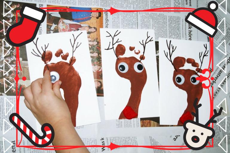 Weihnachtskarten Baby Basteln.Tolle Diy Idee Elch Weihnachtskarten Vertbaudet Blog Ein
